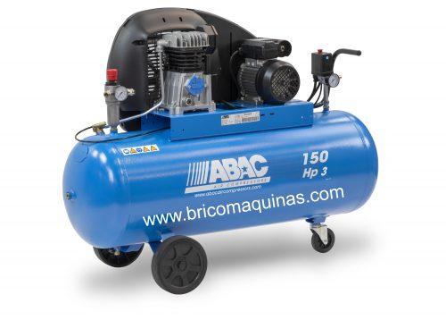 Compresor Abac A29b-150 CM3 de 3 cv y deposito de 150 littros monofasico.