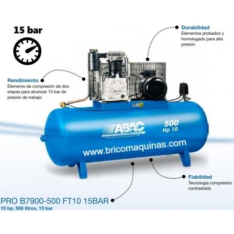 COMPRESOR 15 BAR ABAC 10 HP 500 LITROS.