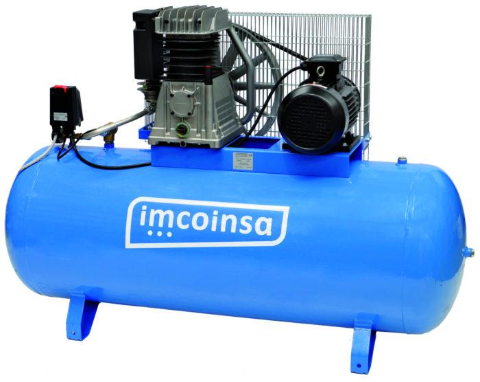 COMPRESOR IMCOINSA IMCO 7/500-T - 0407 Compresor Imcoinsa de la serie Imco de 7,5 hp. orientado al ámbito profesional de diferentes sectores, automoción, agrícola, pintura, carpintería e industria en general. Debido a sus bajas revoluciones conseguimos una vida útil de la máquina más larga favoreciendo el rendimiento de la misma gracias al menor desgaste de los componentes del cilindro. Ideal para trabajo profesional y de uso industrial severo. Motor: 7.5 hp.- Depósito: 500 litros.- Presión de trabajo: 10 bar.- Aire desplazado: 847 litros/minuto.- R.P.M.: 1190.- Peso: 270 kg.- Con un incremento de 88 euros sobre el precio de compra, le damos 3 años de garantía adicional.-